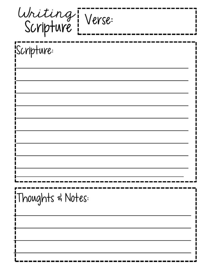 BLANK SHEET SCRIPTURE PLAN